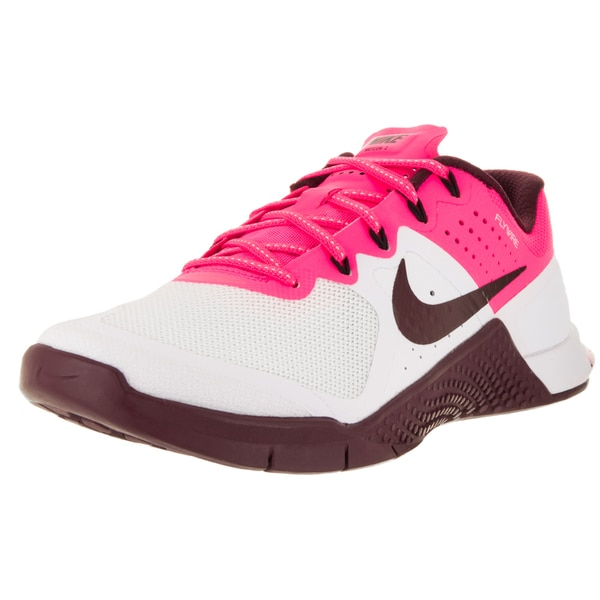 Shop Nike Women's Metcon 2 White, Pink and Maroon Textile