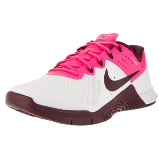 Nike Women's Metcon 2 White, Pink and Maroon Textile Training Shoe