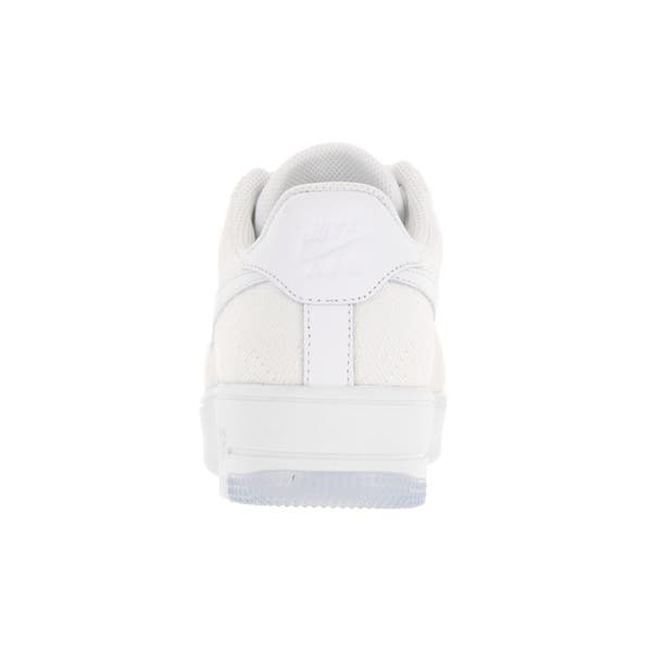 official photos 05129 826ca Shop Nike Women's AF1 Flyknit Low White Casual Shoe - Free ...