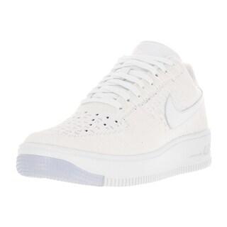 Nike Women's AF1 Flyknit Low White Casual Shoe