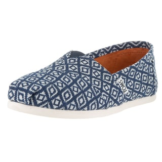 Toms Women's Classic Navy Textile Diamond Woven Casual Shoes
