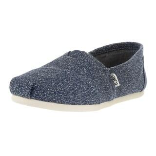 Toms Women's Classic Marl Blue Fabric Casual Shoe