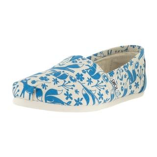 Toms Women's Classic Blue/Birch Foxes Casual Shoe