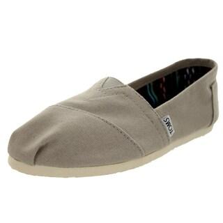 Toms Women's Classics Light Grey Canvas Seasonal Casual Shoe