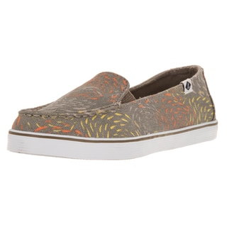 Sperry Women's Top-Sider Zuma Fish Taupe Canvas Casual Shoes