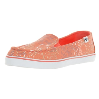 Sperry Top-Sider Women's Orange Canvas Zuma Fish Slip-on Loafers