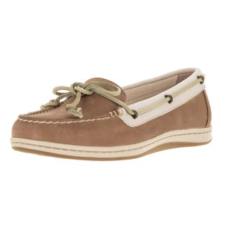 Sperry Top-Sider Women's Jewelfish Lace Linen and Oat Leather Wide Boat Shoes