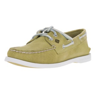 Sperry Top-Sider Women's Authentic Original Two-eye White Cap Lightt Yellow Boat Shoe