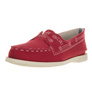 Sperry Women's Band Of Outsiders Authentic Original 2-Eye Doodle Red Casual Shoe