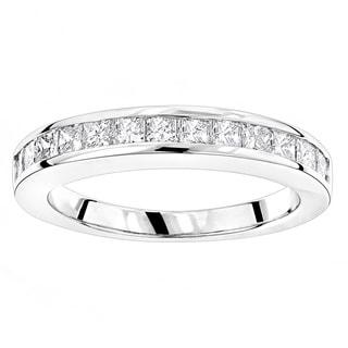 Luxurman 14k Gold 5/8ct TDW Diamond Thin Designer Engagement Ring Band (H-I, SI1-SI2)