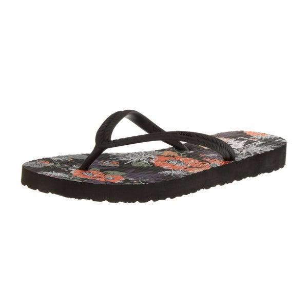 d40241681d4fba Shop Vans Women s Hanelei (Desert Floral) Black Floral Print Sandal ...