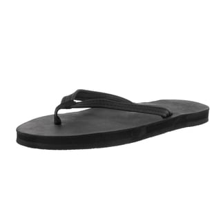Rainbow Sandals Women's Single Layer Narrow Strap Black Sandal