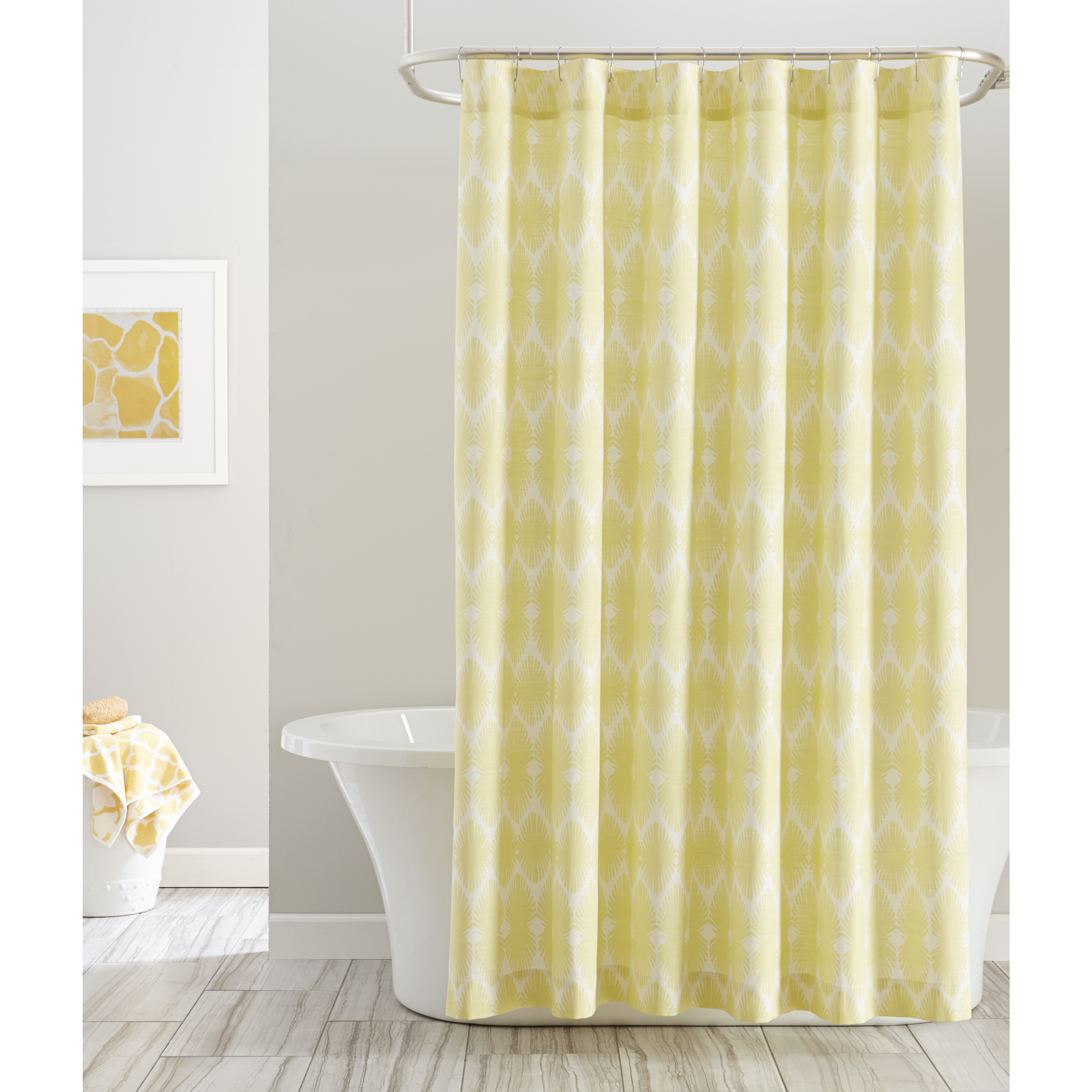 Pointhaven Bright Print Shower Curtains 72 x 72 (72 x 72,...