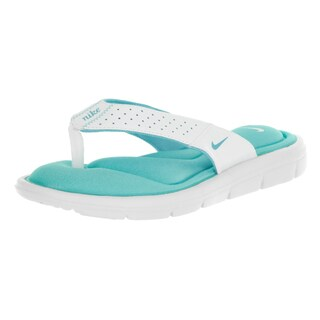 Nike Women's Comfort Thong White/Polarized Blue Plastic Thong Sandal