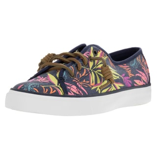 Sperry Top-Sider Women's Seacoast Pink Multicolored Canvas Casual Shoes