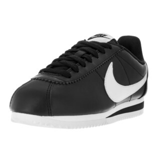 Nike Women's Classic Cortez Black, White, White Leather Casual Shoe