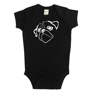 Pug Silhouette Bodysuit by Rocket Bug