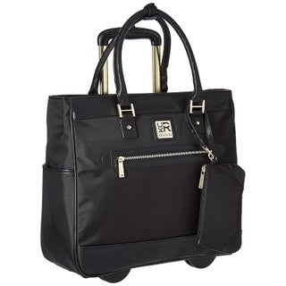 Kenneth Cole Reaction Nylon Top Zip 2-Wheeled 17-inch Laptop Business Tote / Carry-On Bag With Anti-Theft RFID