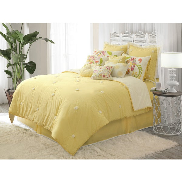 Dena Home Sun Drop Reversible Comforter Set