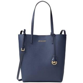 Michael Kors Hayley Blue Oversize Leather Tote Bag