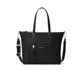 Michael Kors Ariana Large Nylon Black Tote Bag