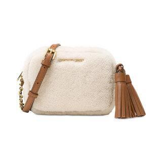 Michael Kors Jet Set Natural/Walnut Wool Travel Small-chain Crossbody Bag