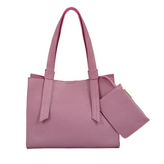 Mellow World Anna Mauve Medium Structured Tote Bag