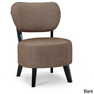 Sphere Ivory Foam/Polyester/Wood Accent Chair
