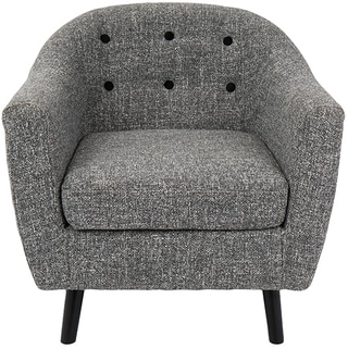 Rockwell Mid-Century Modern Textured Fabric Accent Chair