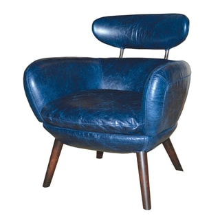 Whitmore Top Grain Blue Leather Chair