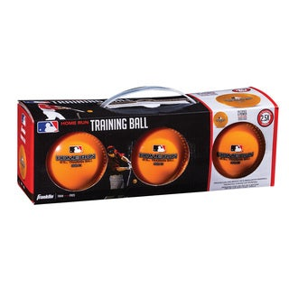 Franklin Sports MLB Orange Plastic 12.5-ounce Home Run Training Ball (Pack of 3)
