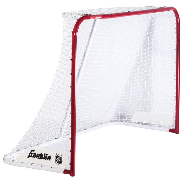 Franklin Sports Quikset White/Red Steel 72-inch Hockey Goal