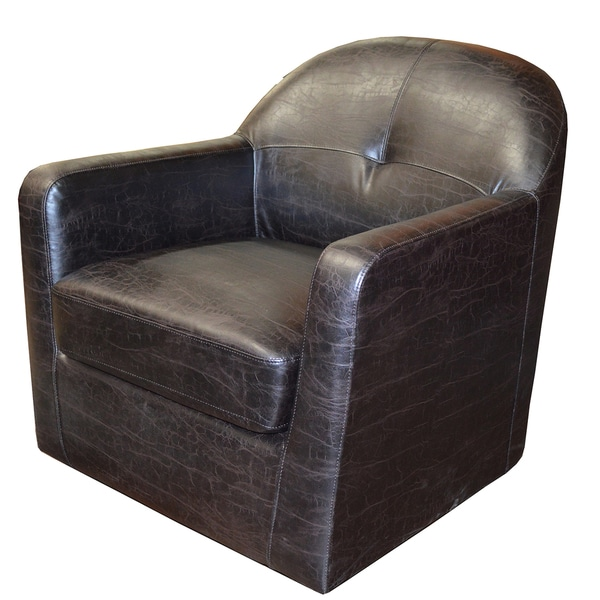 Shop Brooks Embossed Leather Club Chair Free Shipping