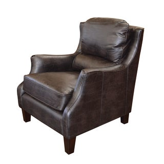 Hawthorne Embossed Leather Wingback Armchair