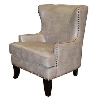 Hornbrook Leather Wingback Armchair