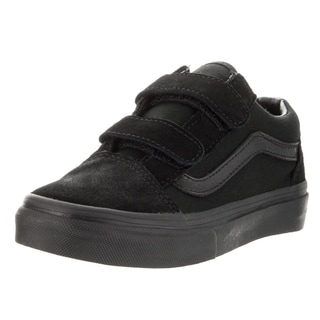 Vans Kids Black Suede Skate Shoe