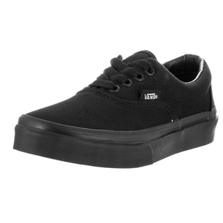 Vans Kids Era Black Canvas Skate Shoe