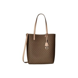 Michael Kors Hayley Large Mocha/ Bisque North/ South Tote Bag