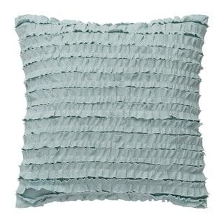 Dena Home Luna Square Ruffle Row Decorative Throw Pillow