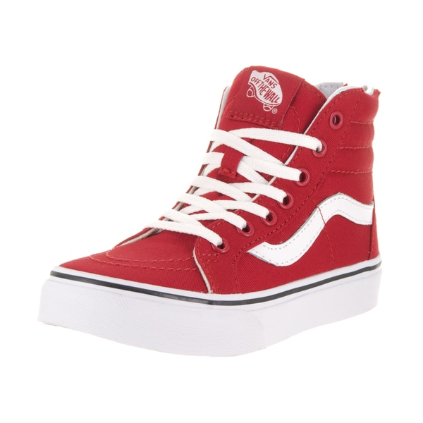 9c3d6dbbaa Shop Vans Kids' Sk8-Hi Zip Varsity Racing Red/True Skate Shoe - Free ...