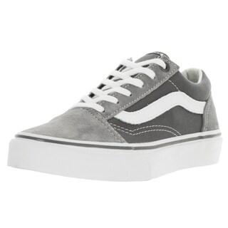 Vans Kid's Old Skool Frost Grey and Pewter Suede Skate Shoe