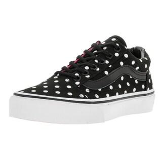 Vans Children's Old Skool Polka Dots Black Canvas Skate Shoes