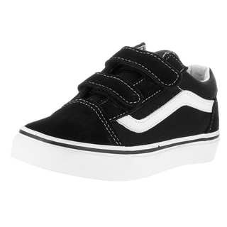 Vans Kid's Old Skool V Black/True White Suede Skate Shoe