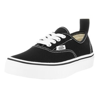 Vans Kids Authentic Elastic Lace Black/White Skate Shoe