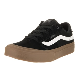 Vans Kids' Style 112 Pro Black and White Suede Skate Shoes with Gum Sole