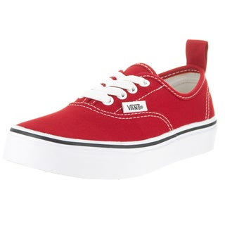 Vans Kids Authentic Elastic Lace Red/White Skate Shoe