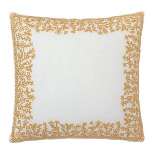 Dena Home Dream Gold Frame Embroidered Decorative Throw Pillow