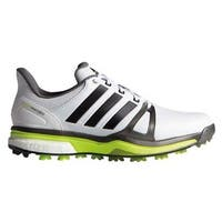 Adidas Men's Adipower Boost 2 White/ Black/ Solar Yellow Golf Shoes - Wide Width