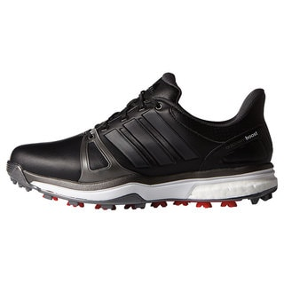 Adidas Men's Adipower Boost 2 Core Black/ Dark Silver Metallics/ Red Golf Shoes - Medium Width