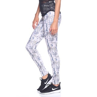 Women's Yoga Print Multicolor Nylon Leggings